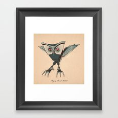 ANGRY BIRD METAL Framed Art Print
