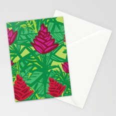 Tropical dreams green Stationery Cards