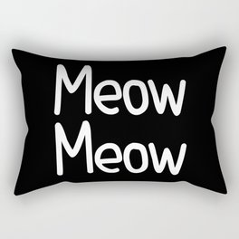 Meow Meow ( on black) Rectangular Pillow