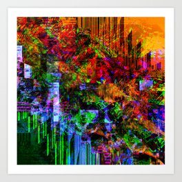 NN4Shift8SS2IllusionDarker Art Print