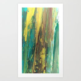 Abstract Mystery of the Forest Art Print