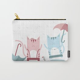 Traveling Tabbies: Play in the Rain Carry-All Pouch