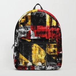 Maryland Flag Print Backpack