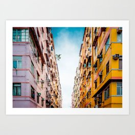 Residential aprtment in old district, Hong Kong Art Print