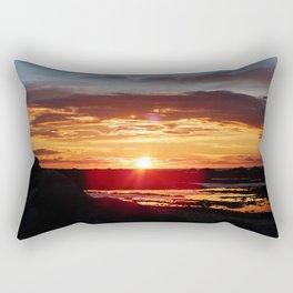 Ground Level Sunset Rectangular Pillow