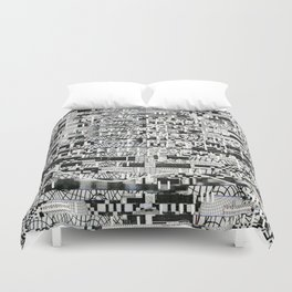 Confused Images Behind the Interface (P/D3 Glitch Collage Studies) Duvet Cover