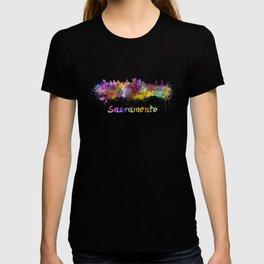 Sacramento skyline in watercolor T-shirt