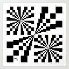Crazy Chess Art Print