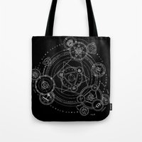 games Tote Bags featuring Games by qabot
