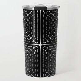Energy Vibration 1.  Frequency - Chladni - Cymatics Travel Mug
