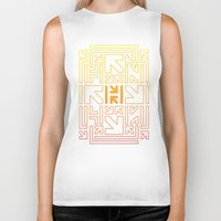 pacman Biker Tanks featuring PACMAN by HERENOW