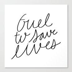 Fuel To save lives - hand lettering Doctor's mug design Canvas Print
