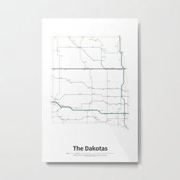 Highways of the USA – The Dakotas Metal Print