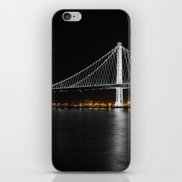 Bay Bridge at Night iPhone Skin