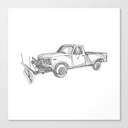 Snow Plow Truck Doodle Art Canvas Print