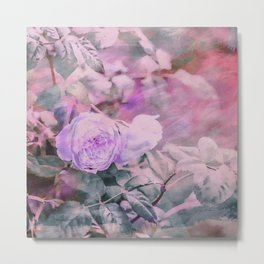 Romantic Rose Soft Pastel Colors Metal Print