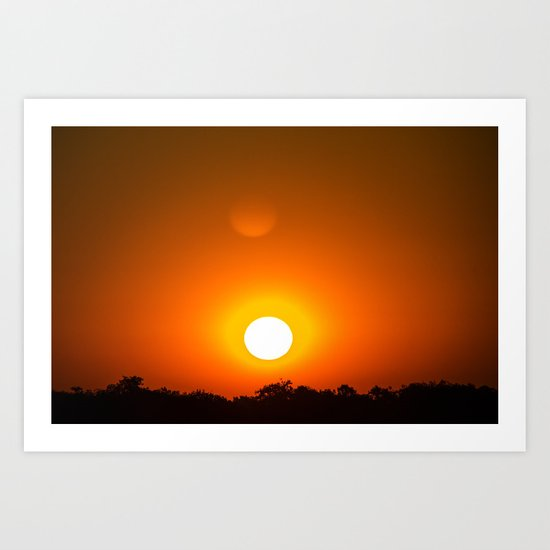Sunset in red Art Print
