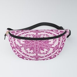 Pink Mandala on Baby Pink Background Fanny Pack
