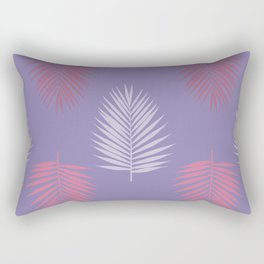 Ultra violet tropical palm leaves seamless pattern. Vector illustration. Rectangular Pillow