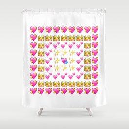 Emoji Hearts  Shower Curtain