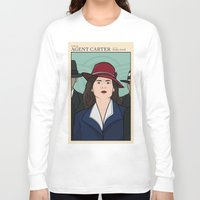 agent carter Long Sleeve T-shirts featuring Agent Carter by saintsandstorms