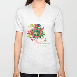 JILLY jellybug® dances a jelly jig around the jupiter trees in the jungle. Unisex V-Neck