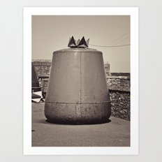 Old Maritime Buoy, Hook Head Co. Wexford, Ireland Art Print
