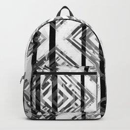 Black and White Tribal Boho Backpack