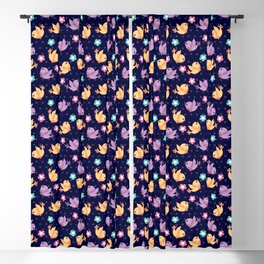 Freely Birds Flying - Fly Away Version 2 - Night Color Blackout Curtain