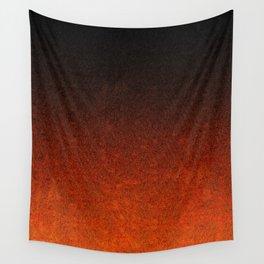 Orange & Black Glitter Gradient Wall Tapestry