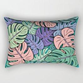 Monstera Leaves #8 Rectangular Pillow