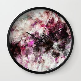 Modern Abstract Painting in Purple and Pink Tones Wall Clock