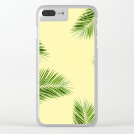 Tropical Palm Leaf Foliage - mellow yellow Clear iPhone Case