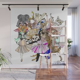 Animal Ballet Hipsters LV Wall Mural