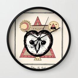 Follow the Owl Wall Clock