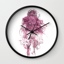 Pink Person Wall Clock