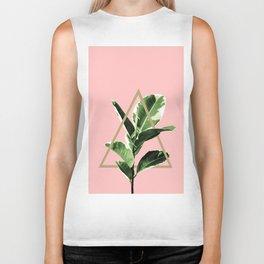 Ficus Elastica Geo Finesse #1 #tropical #foliage #decor #art #society6 Biker Tank