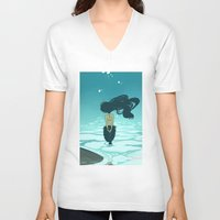 underwater V-neck T-shirts featuring Underwater by Triona Tree Farrell