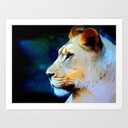 Artsy Lion Art Print