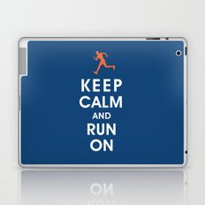 Keep Calm and Run On (male runner) Laptop & iPad Skin