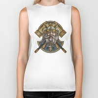 viking Biker Tanks featuring Viking by Spooky Dooky
