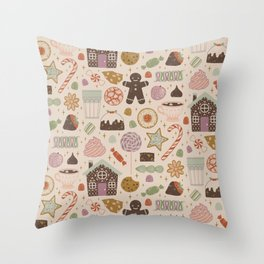 In the Land of Sweets Throw Pillow
