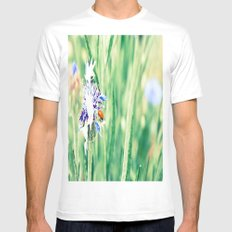Spotless White MEDIUM Mens Fitted Tee