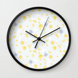 cardcaptor sakura cute blue Wall Clock