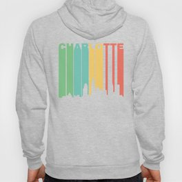Retro 1970's Style Charlotte North Carolina Skyline Hoody