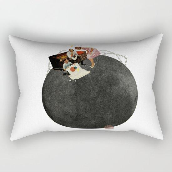 Life on Earth  | Collage | White Rectangular Pillow