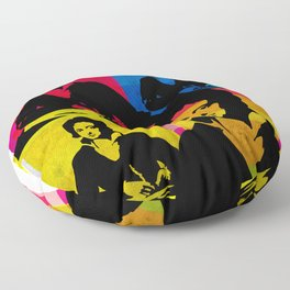 PERCY BYSSHE SHELLEY - ENGLISH POET, 4-UP POP ART COLLAGE Floor Pillow