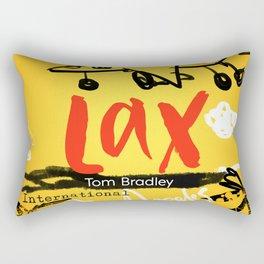 LAX Airport code scribble Rectangular Pillow