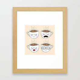 Tea Cups Framed Art Print