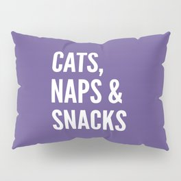 Cats, Naps & Snacks (Ultra Violet) Pillow Sham
